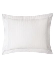 iSleep Kussensloop Satijnstreep (wit) 60x70