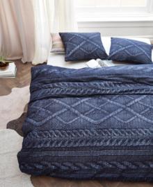 At Home Flanellen Dekbedovertrek Wools (navy) 200x200/220