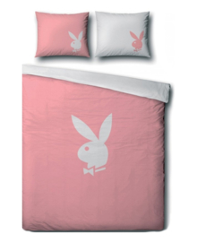 Playboy Dekbedovertrek Classic (pink) 140x200/220