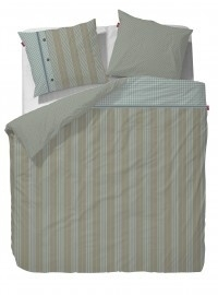 Marieke at Home Dekbedovertrek Natural Stripe (blue) 240x200/220