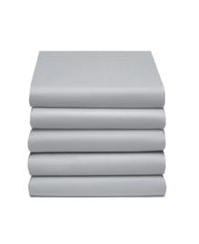 Hoeslaken Katoen (zilver)