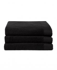 Seahorse Handdoek Pure (black) 70x140