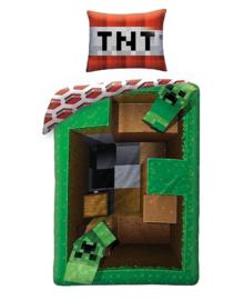 Minecraft Dekbedovertrek Bang (green) 140x200