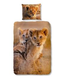 Good Morning Dekbedovertrek Baby Lion (sand) 140x200/220