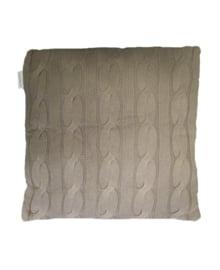 Essenza Sierkussen Knitted (taupe) 50x50