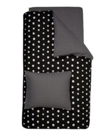 Damai Dekbedovertrek Dotty Spotty (black) 140x200/220