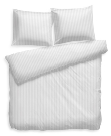 Heckett & Lane Dekbedovertrek Satin Stripe (white) 200x200/220