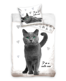 Dekbedovertrek Cute One (grey) 140x200