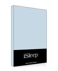 iSleep Hoeslaken Perkal Katoen (blauw)