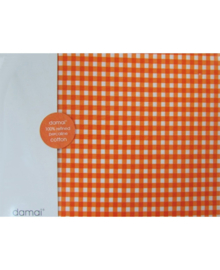 Damai Hoeslaken Vichy (orange) 70x150