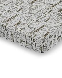 Damai Hoeslaken Typo (khaki) 90x200