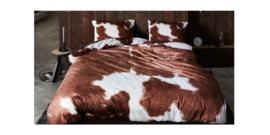 Essenza Kussensloop Cow (brown) 60x70