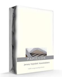 Papillon Topper Hoeslaken Jersey (ivoor)