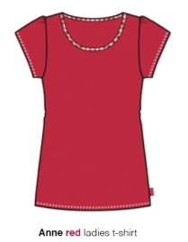 Marieke at Home Dames Shirt Anne (red)