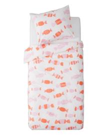 Dekbedovertrek Snoepjes (roze) 120x150