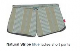 Marieke at Home Dames Shorts Natural Stripe (blue)