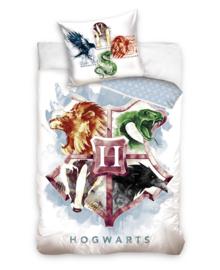 Harry Potter Dekbedovertrek Hogwarts Houses (multi) 140x200