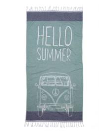 Seahorse Hamamdoek Hello Summer (green)