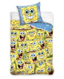Spongebob Dekbedovertrek Faces Everywhere (yellow) 140x200