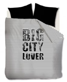 Beddinghouse Dekbedovertrek Big City Lover (black) 240x200/220