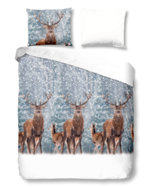 Good Morning Dekbedovertrek Deer (grey) 140x200/220