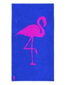Seahorse Strandlaken Flamingo (cobalt)