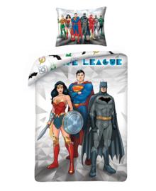 Justice League Dekbedovertrek Hero's (grey) 140x200