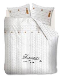 Beddinghouse Flanellen Dekbedovertrek Knitted Dream (white) 140x200/220