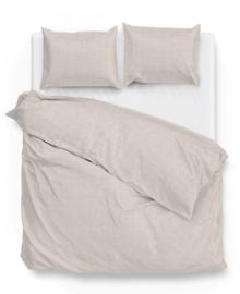 Zo! Home Dekbedovertrek Lino (sandy beige) 140x200/220