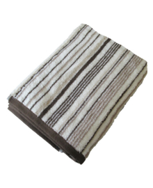 Aquanova Badlaken Stripes (brown) 70x130