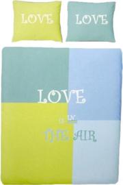 Covers & Co Dekbedovertrek Love is in the air (Groen) 140x200/220cm
