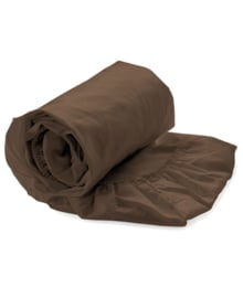 HNL Royal Cotton Split-Topper Hoeslaken Perkal Katoen (chocolat brown)
