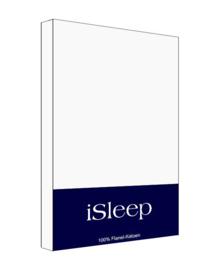 iSleep Kussensloop Flanel Katoen 2 stuks (wit) 60x70