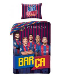 FC Barcelona Dekbedovertrek Blau Grana (blauw/rood) 140x200
