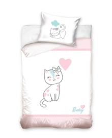 Baby Dekbedovertrek Kitten (pink) 100x135