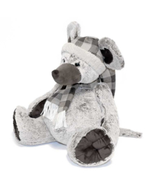 Unique Living Plush Mouse (grey) 36 cm