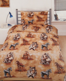 Kids Only Dekbedovertrek Horse (bruin) 140x200
