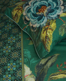 PiP Studio Dekbedovertrek Poppy Stitch (green) 260x200/220