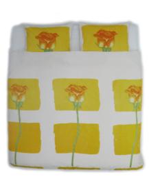 Beddinghouse Dekbedovertrek Efla (geel) 200x200/220