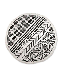 Unique Living Roundie Dessin 1 (black/white)