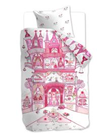 Beddinghouse Dekbedovertrek Fairy Palace (pink) 140x200/220
