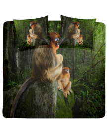Damai Dekbedovertrek Snub-nosed Monkey (green) 200x200/220