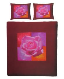 Essenza Dekbedovertrek Painted Rose (red) 140x200/220