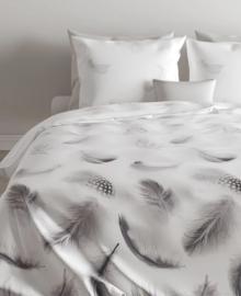 Zo! Home Flanellen Dekbedovertrek Feathers (grey) 140x200/220