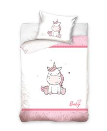 Baby Dekbedovertrek Unicorn (pink) 100x135