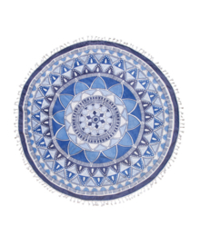 Seahorse Roundie Mandala (blue)