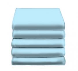 Hoeslaken Katoen (licht blauw)