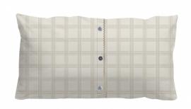 Stapelgoed Sierkussen Buttons (brown) 30x60