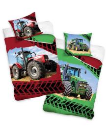Dekbedovertrek Tractors (groen/rood) 140x200