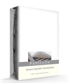 Papillon Topper Hoeslaken Jersey (wit)
